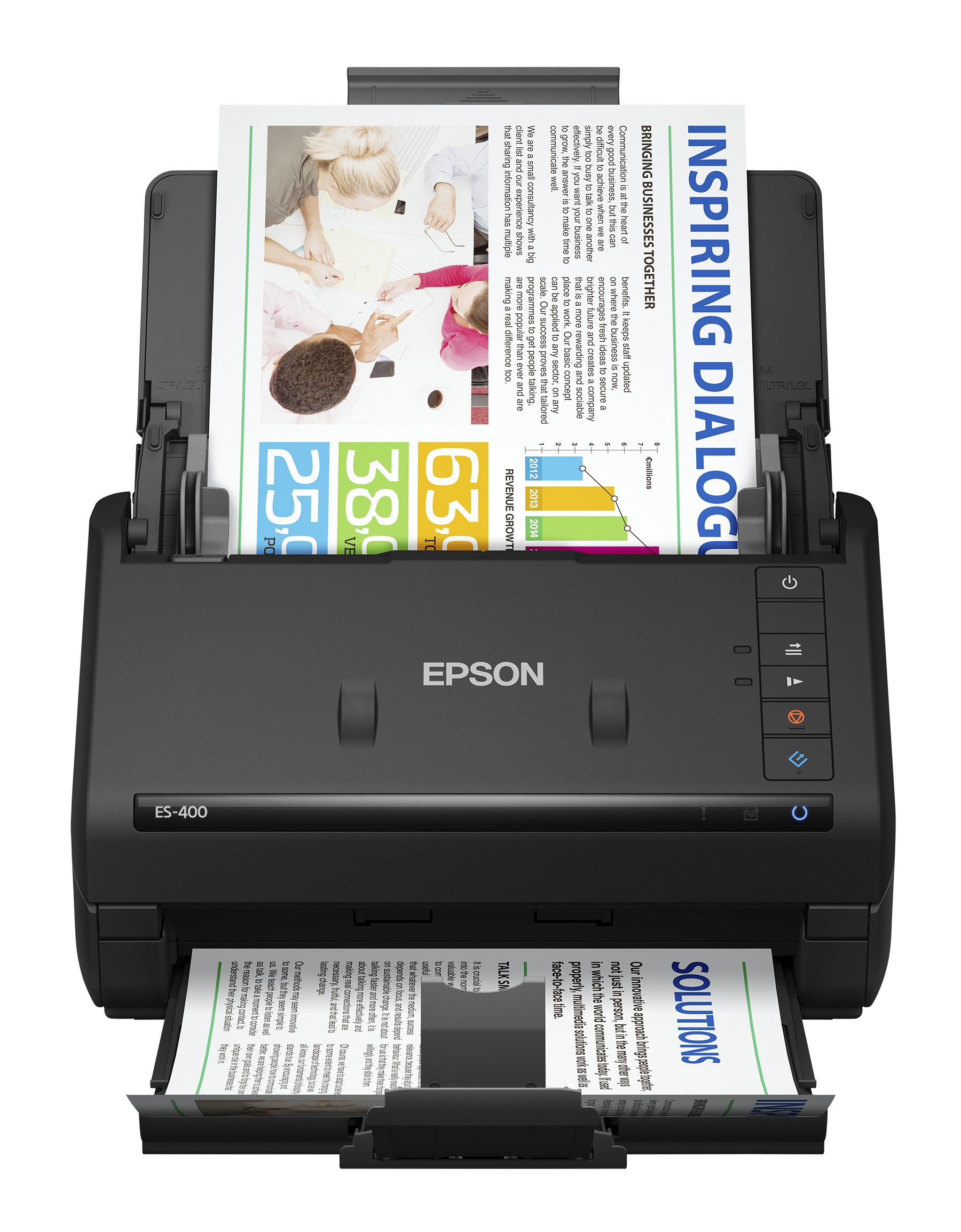 Epson WorkForce ES-400 Color Duplex Document Scanner for PC and Mac, Auto Document Feeder (ADF) by Epson
