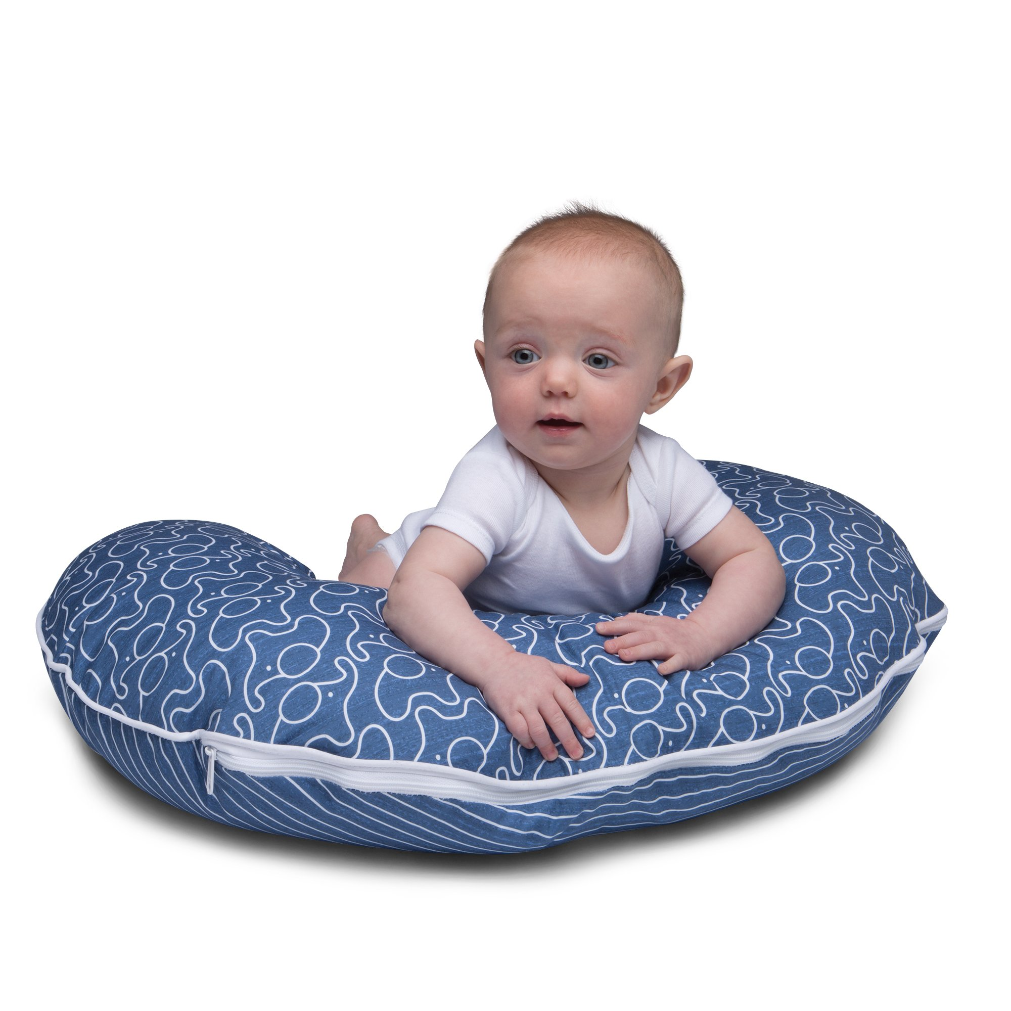 Boppy Pillow Slipcover, Blue Classic Plus Modern Elephants by Boppy (Image #6)