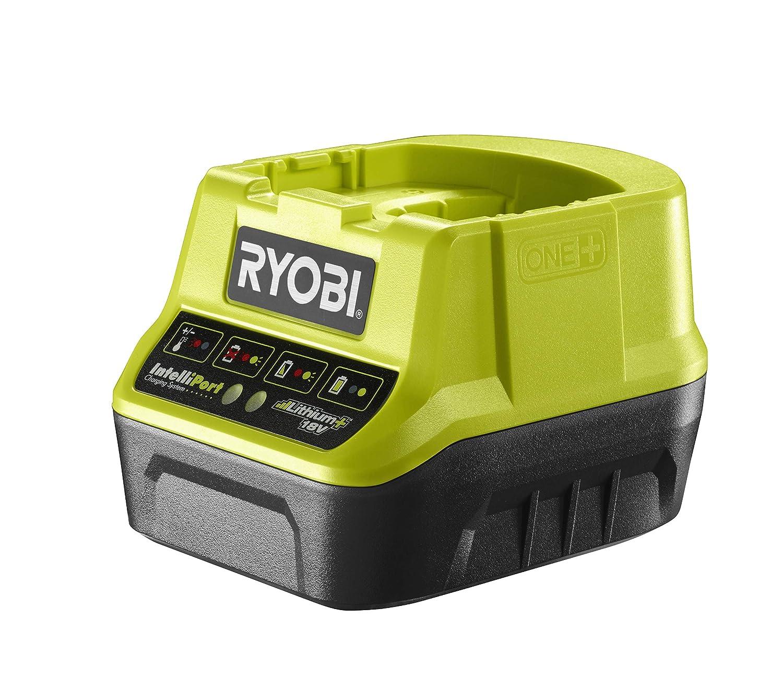 Ryobi Schnellladegerät 18V, Spannungs-und Temperaturüberwachung, mit Schutzelektronik, ohne Akku – RC18-120