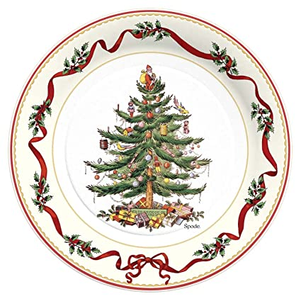 cr gibson 8 count decorative paper dinner plates easy clean up measures 105 - Decorative Christmas Plates