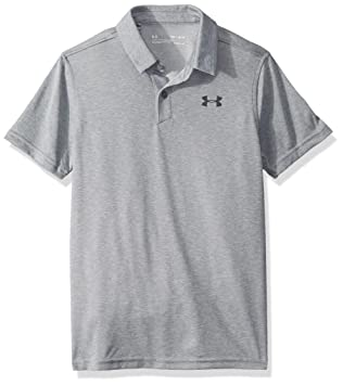 Under Armour Microthread Polo, Steel Light Heather (035)/Pitch ...