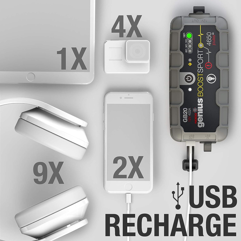 NOCO Boost Plus GB40 1.000 Ampli 12V UltraSafe Lithium Jump Starter Booster de Batterie de Voiture