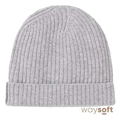 WaySoft Pure 100% Cashmere Beanie for Women in a Gift Box ef5a9b5976