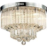 Saint Mossi Chandelier Modern K9 Crystal Raindrop Chandelier Lighting Flush mount LED Ceiling Light Fixture Pendant Lamp