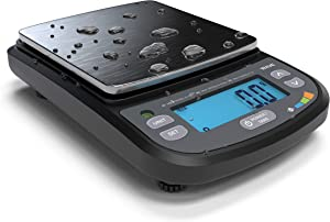 Truweigh - WAVE Digital Scale 1000g x 0.1g - Black - Washdown IP65 Protection - Portable Grams Scale - Kitchen Scale - Food Scale - Postal Scale - Herb Scale - Meal Prep Scale - Waterproof Scale