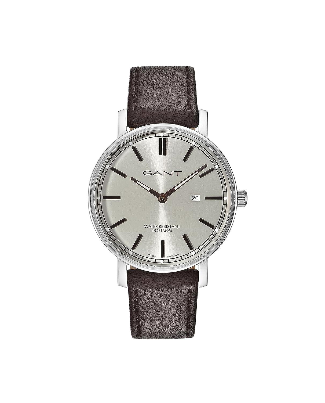 GANT Hombre analógico de Cuarzo Reloj con Pulsera de Piel gt006005