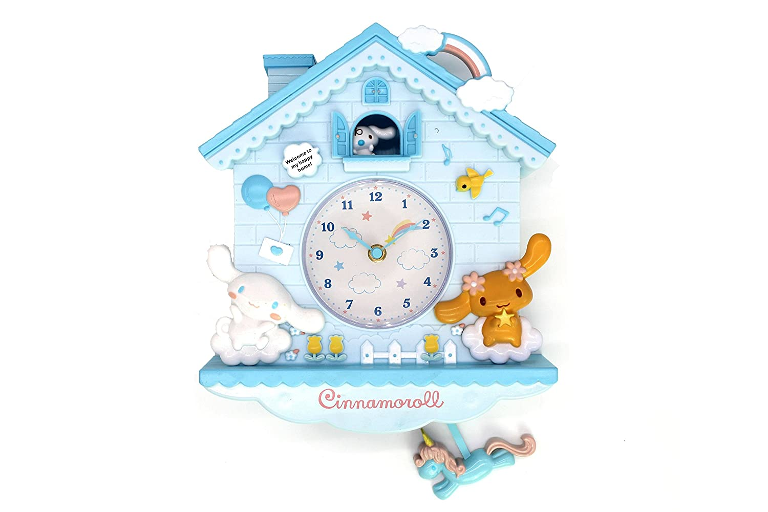 Amazon.com: Rustic Golbary Gifts Cuckoo Nursery Wall Clock Pink With Pendulum Mouse House With Bunnies Adorable Infant Boys & Girls Gift (Light Blue): Home ...