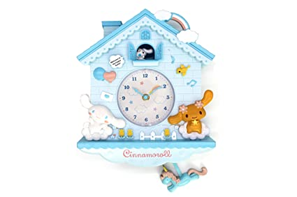 Rustic Golbary Gifts Cuckoo Nursery Wall Clock Pink With Pendulum Mouse House With Bunnies Adorable Infant