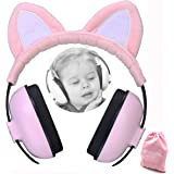Baby Ear Protection for Kids for 3 Months to 2+ Years Noise Cancelling Ear Muffs for Infant and Toddlers with Cat Ear…