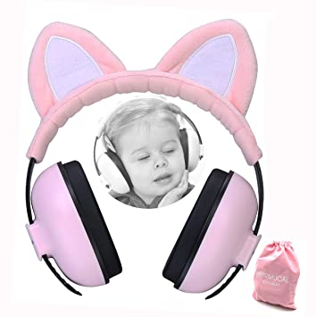 Baby Ear Defender Hearing Protection Earmuffs Noise Reduction 3 months+ Pink