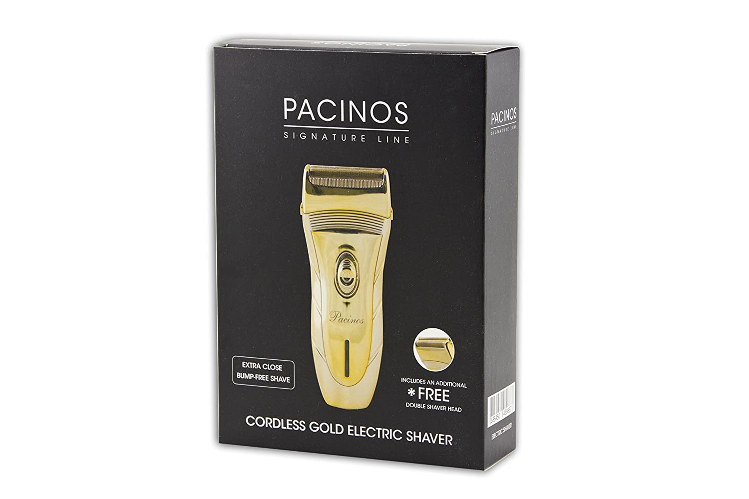 Pacinos Signature Line Cordless Gold Electric Shaver by Pacinos