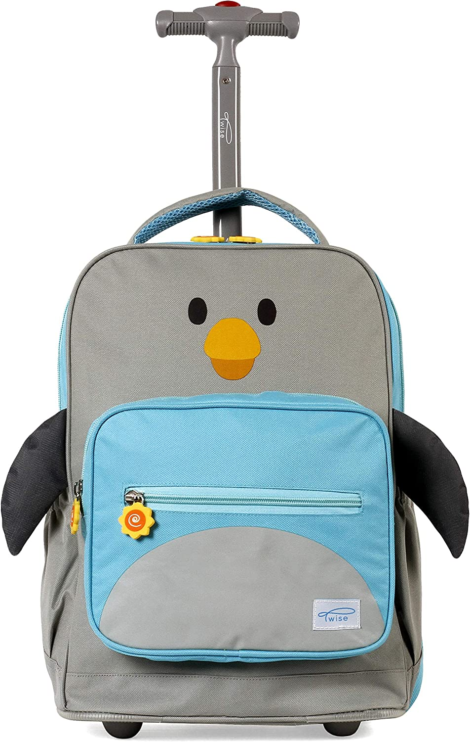 TWISE SIDE-KICK TRAVEL ROLLING BACKPACK FOR KIDS AND TODDLERS (PENGUIN)