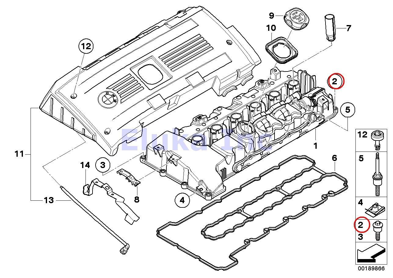 4 X Bmw Genuine Engine Cylinder Head Valve Cover Bolt 7l Diagram 6 325 Mm Torx 535i 535xi X5 35ix X6 135i M Coup X1 Z4