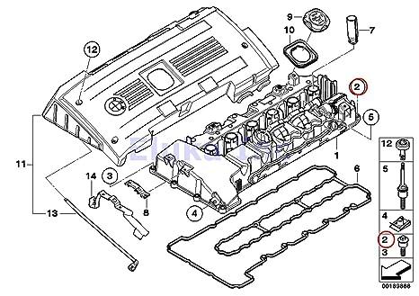 4 x bmw genuine engine cylinder head valve cover bolt - 6 x 32 5 mm torx
