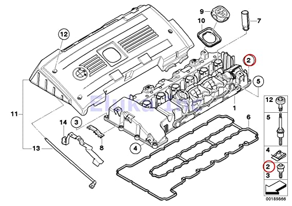 Amazon Com 4 X Bmw Genuine Engine Cylinder Head Valve Cover Bolt