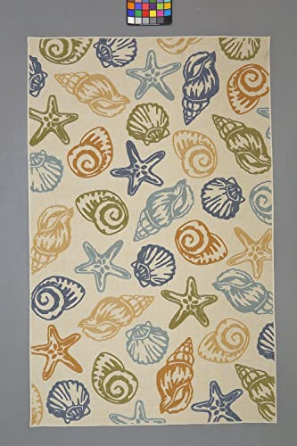 Mohawk Home Woodbridge Seashells Coastal Printed Area Rug, 5 x 8 , Multicolor