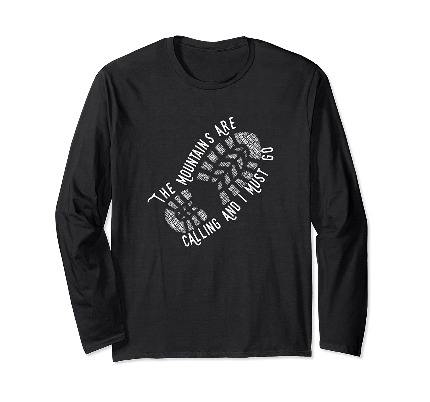 National Park The Mountains are Calling Long Sleeve T Shirt-mt