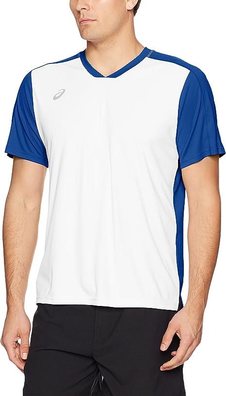 ASICS Centerline Jersey para Hombre, Hombre, Color Azul y Blanco ...