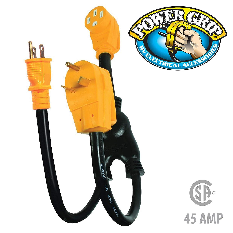 amazoncom camco heavy duty powergrip maximizer 45 amp adapter