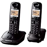PANASONIC KX-TG2512CXT Digital Cordless Phone, Titanium Black