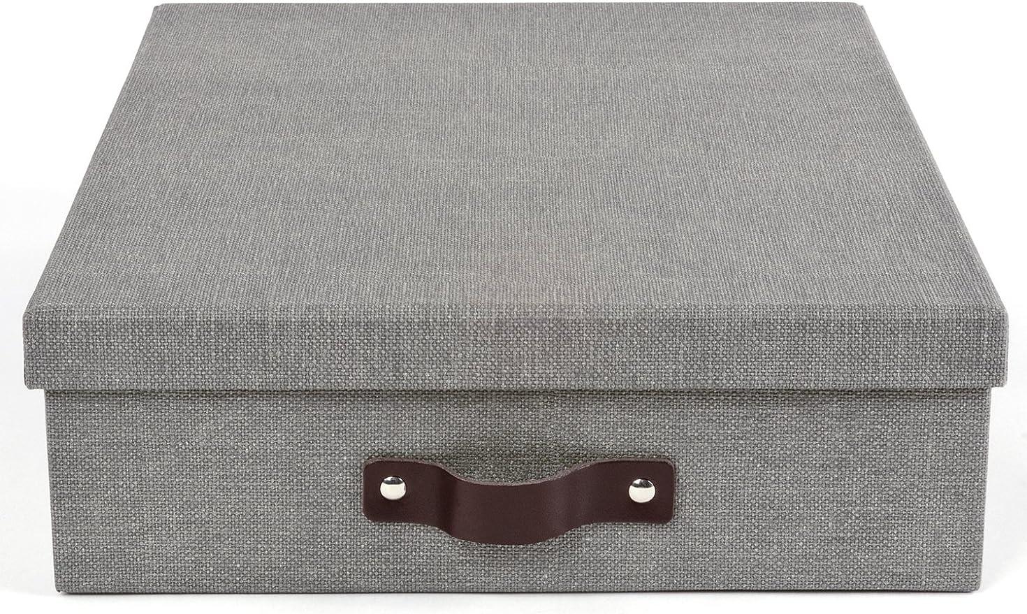 The Holding Company A4 de Oskar – Caja para Cartas, 26 x 35 x 9 cm (B X T x h) Gris: Amazon.es: Hogar