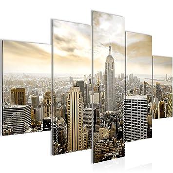 Bilder New York City Wandbild 150 X 100 Cm Vlies   Leinwand Bild XXL Format  Wandbilder