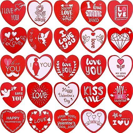 """Labels 1/"""" Round 63 Heart Love Valentine/'s Day Envelope Seals Stickers"""