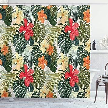 Hawaiian Flower Hawaiian Tropical Fabric Shower Curtain