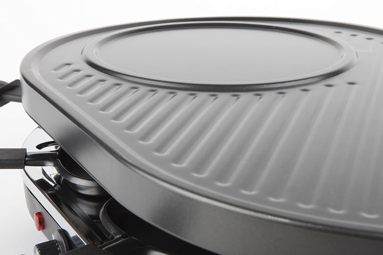 Negro 1200 W 1200 W Korona 45000 parrilla de interior 8 personas Raclette s