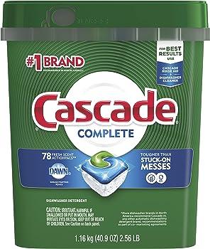 78-Count Cascade Complete ActionPacs Dishwasher Detergent