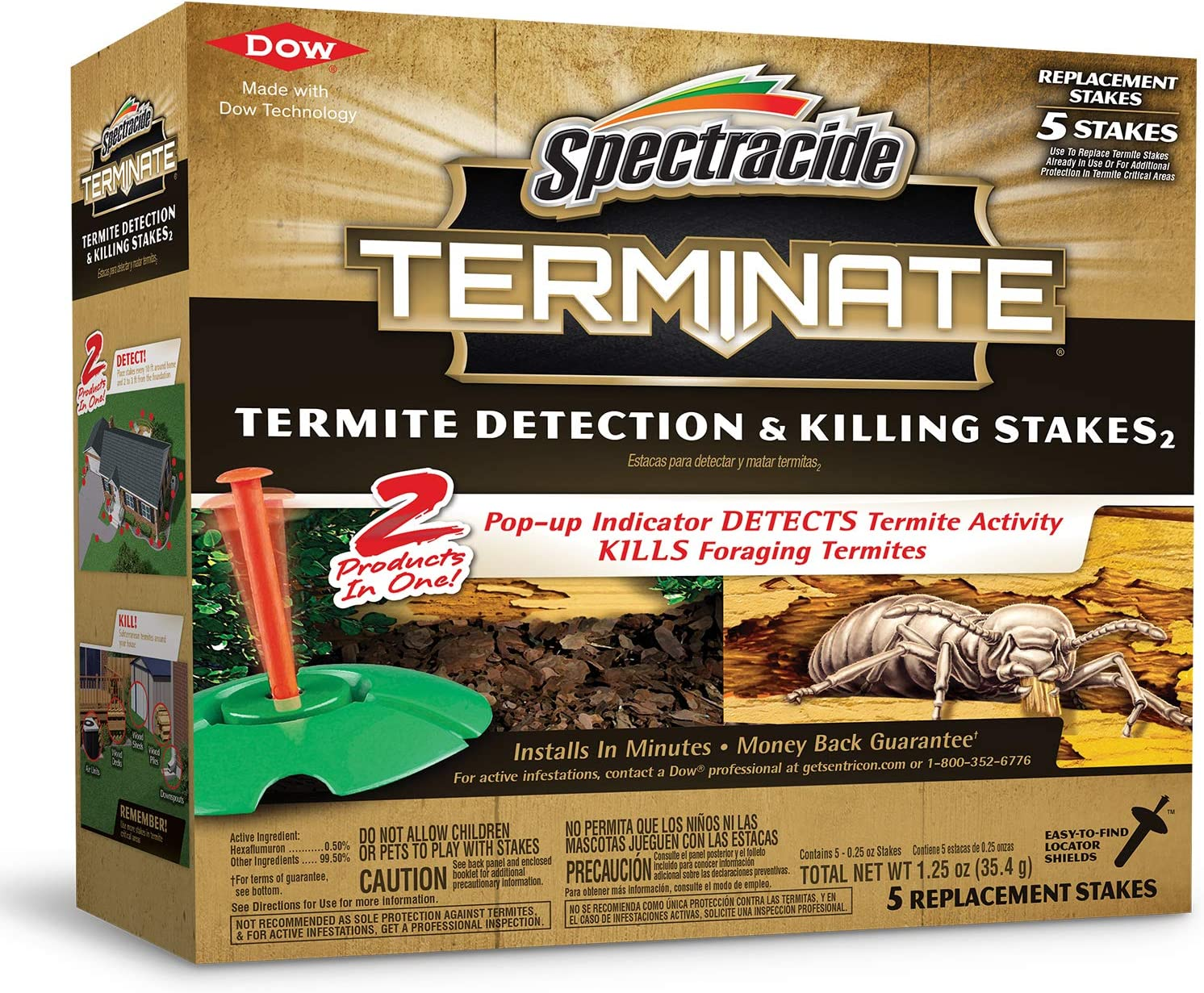 Terminate Refill Stakes 5-Count Termite Killer (96116) : Home Pest Repellents : Garden & Outdoor