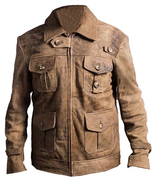 Leatherly Chaqueta de hombre Expendables Jason Statham Distressed Auténtico Cuero Chaqueta- 5XL: Amazon.es: Ropa y accesorios