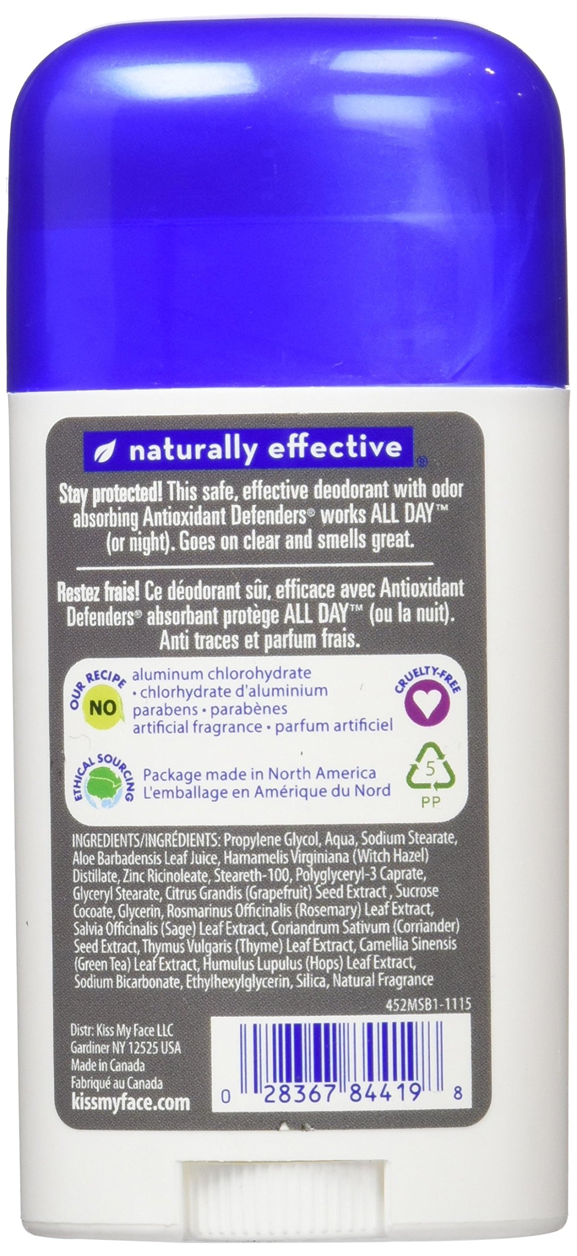 Kiss My Face Natural Man Sports Deodorant, 2.48 Ounce (Pack of 36) by Kiss My Face (Image #4)