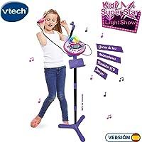 VTech - Kidi Superstar LightShow, Karaoke electrónico Interactivo, conexión para MP3, Efectos de Luces, Voces, grabadora, Altavoz Incorporado, Juegos, Sonidos de aplausos y ovaciones (80-165822)