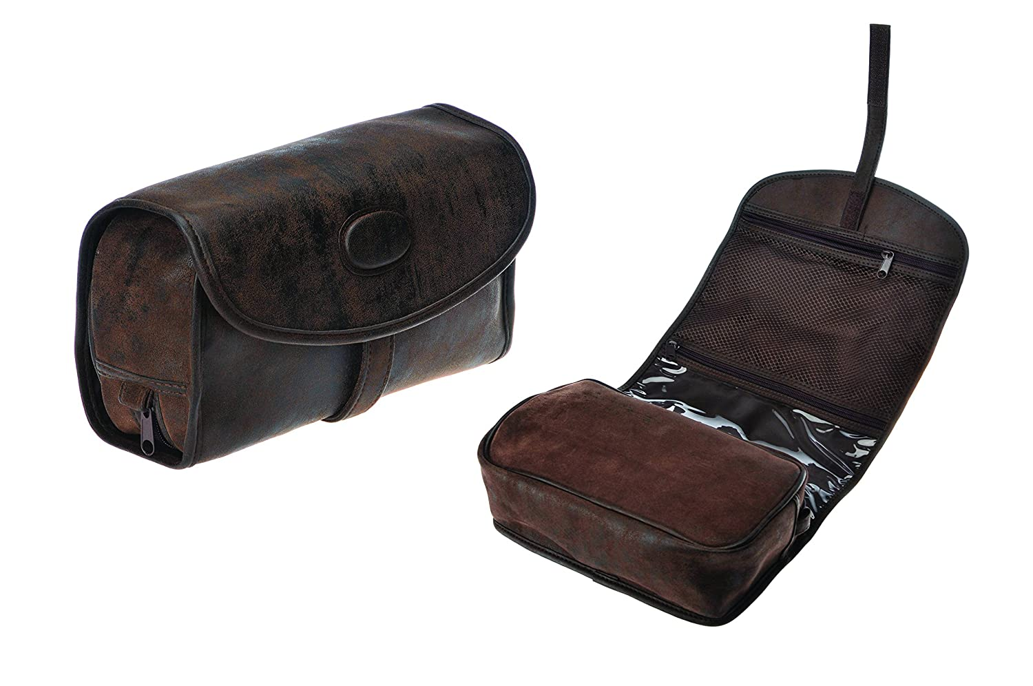 Danielle Enterprises Montana for Him Travel Hang Up Caddy with Velcro, Deep Brown 8338