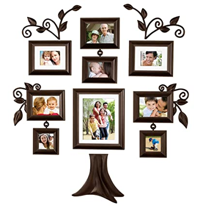Amazoncom Family Tree 9 Piece Family Tree Collection Picture Frames