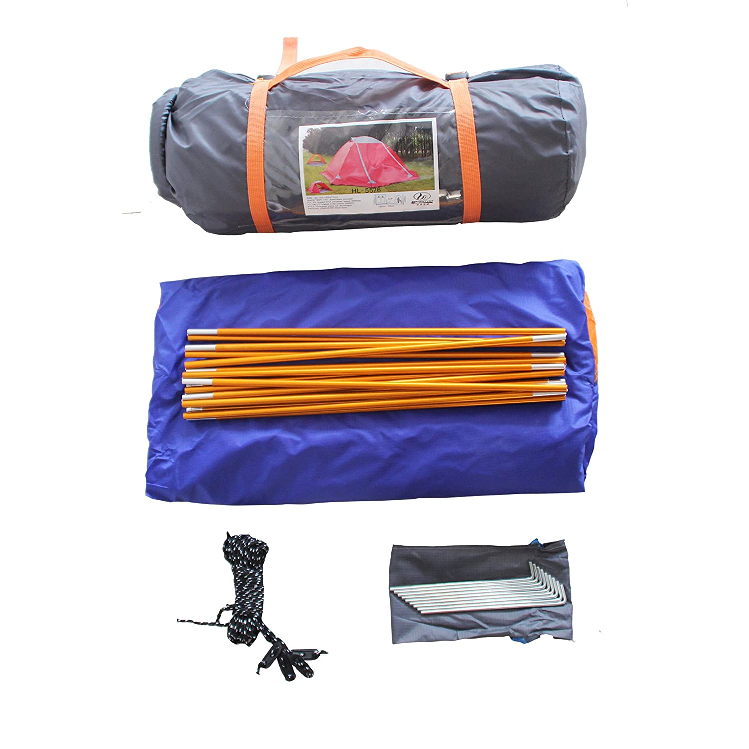 Tent 3 Person Tents for Camping Backpacking Tent Easy Set Up Pirny