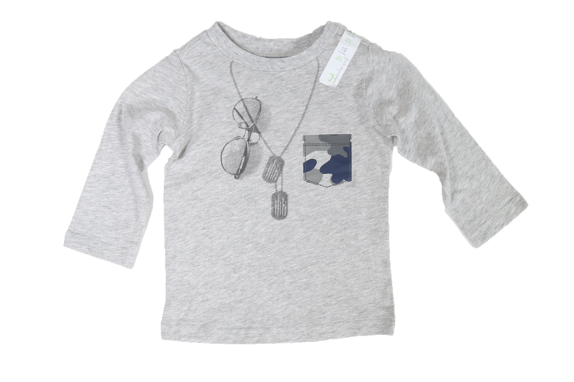 First Impressions Camo Sunglasses Graphic-Print T-Shirt, Baby Boys (18 Months) by First Impressions