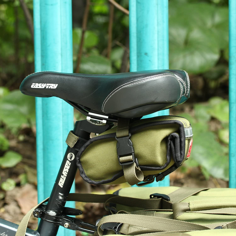 ArcEnCiel Bike Saddle Bag Bicycle Seat Packs Folding Canvas Cycling Wedge Basket