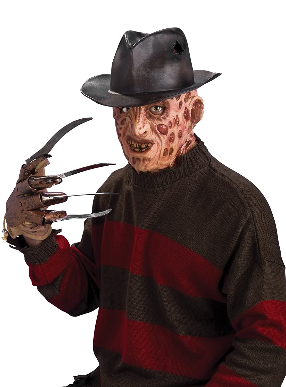 Rubie's Official Adult's Freddy Krueger 3/4 Vinyl Mask Nightmare ...