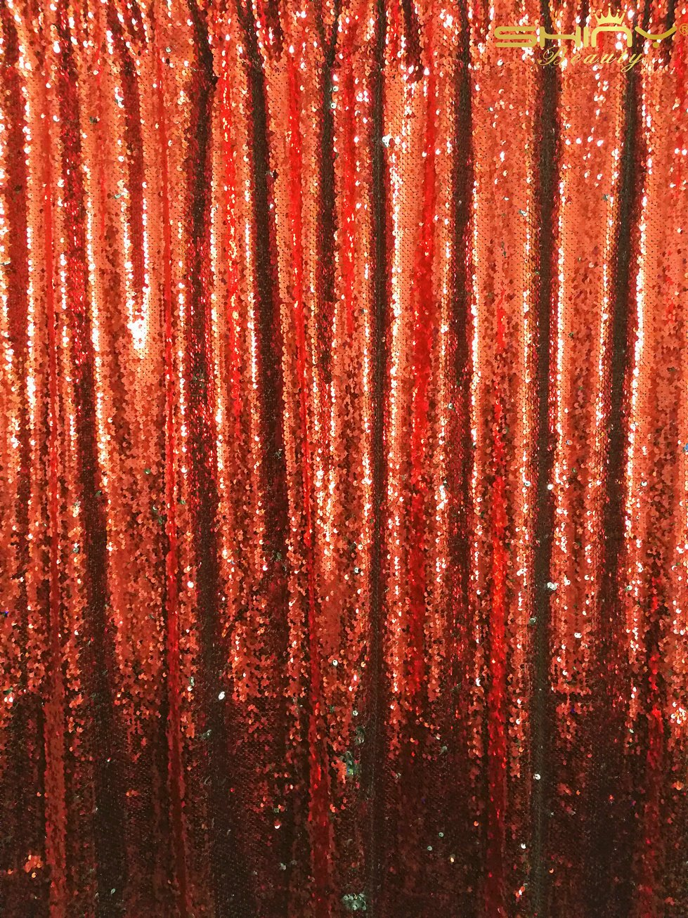ShinyBeauty Mermaid-Sequin Curtain Backdrop-Red&Silver-10FTx8FT,Sparkyly Sequin Fabric Curtain Backdrop,Perfect for Party/Wedding/Event/Prom/Birthday by ShinyBeauty
