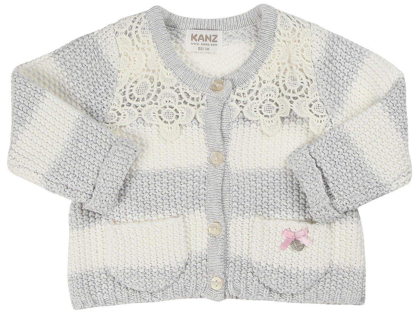 KANZ Baby Baby-Girls Newborn Knit Stripe Cardigan