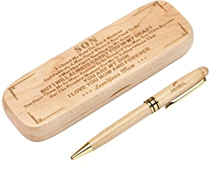 FAYERXL Engraved Pen Set for Men,Gift for Son from Mom,Personalized Pen and Case to My Son,