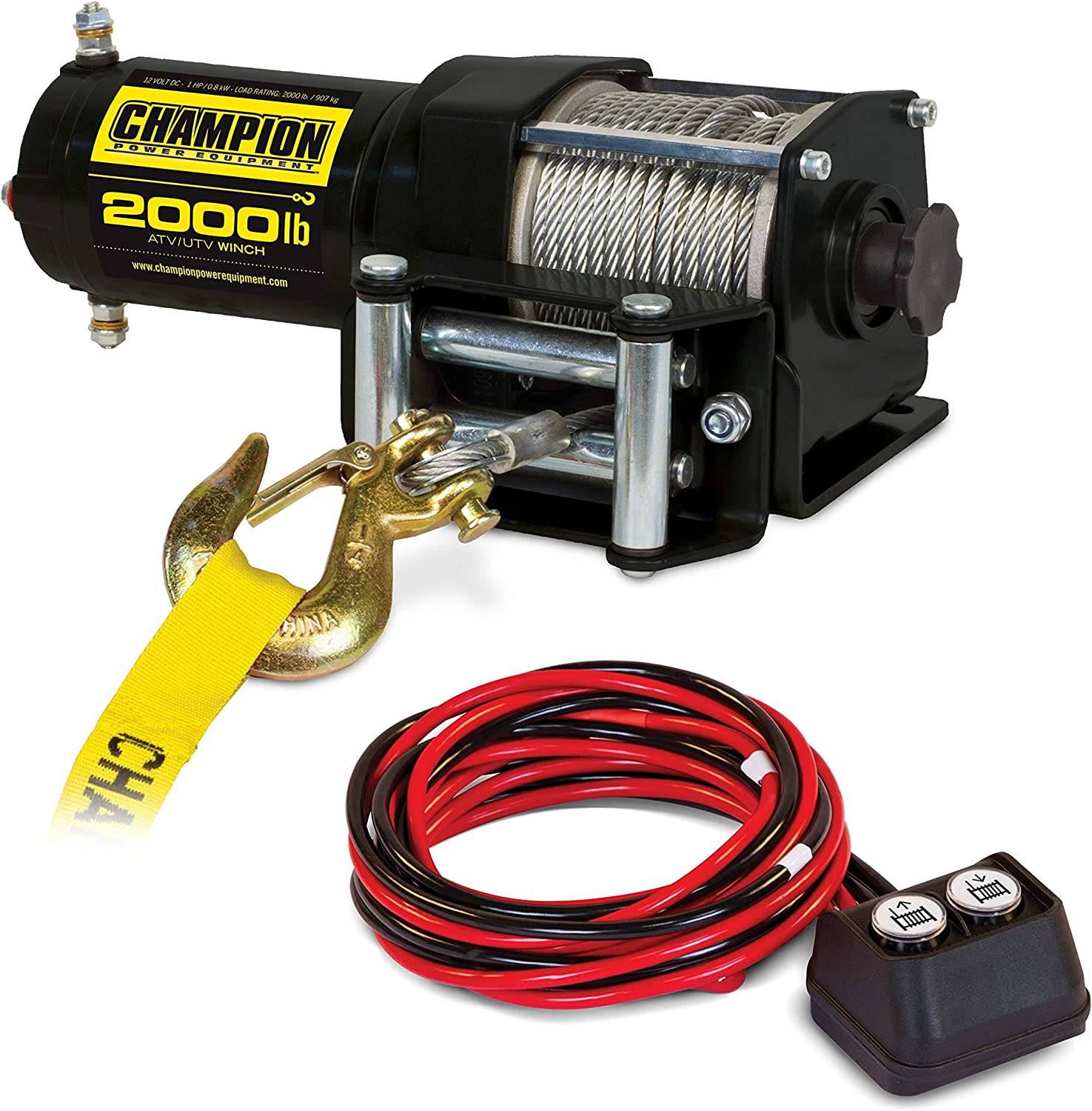 Amazon.com: Champion 2000-lb. ATV/UTV Winch Kit: AutomotiveAmazon.com