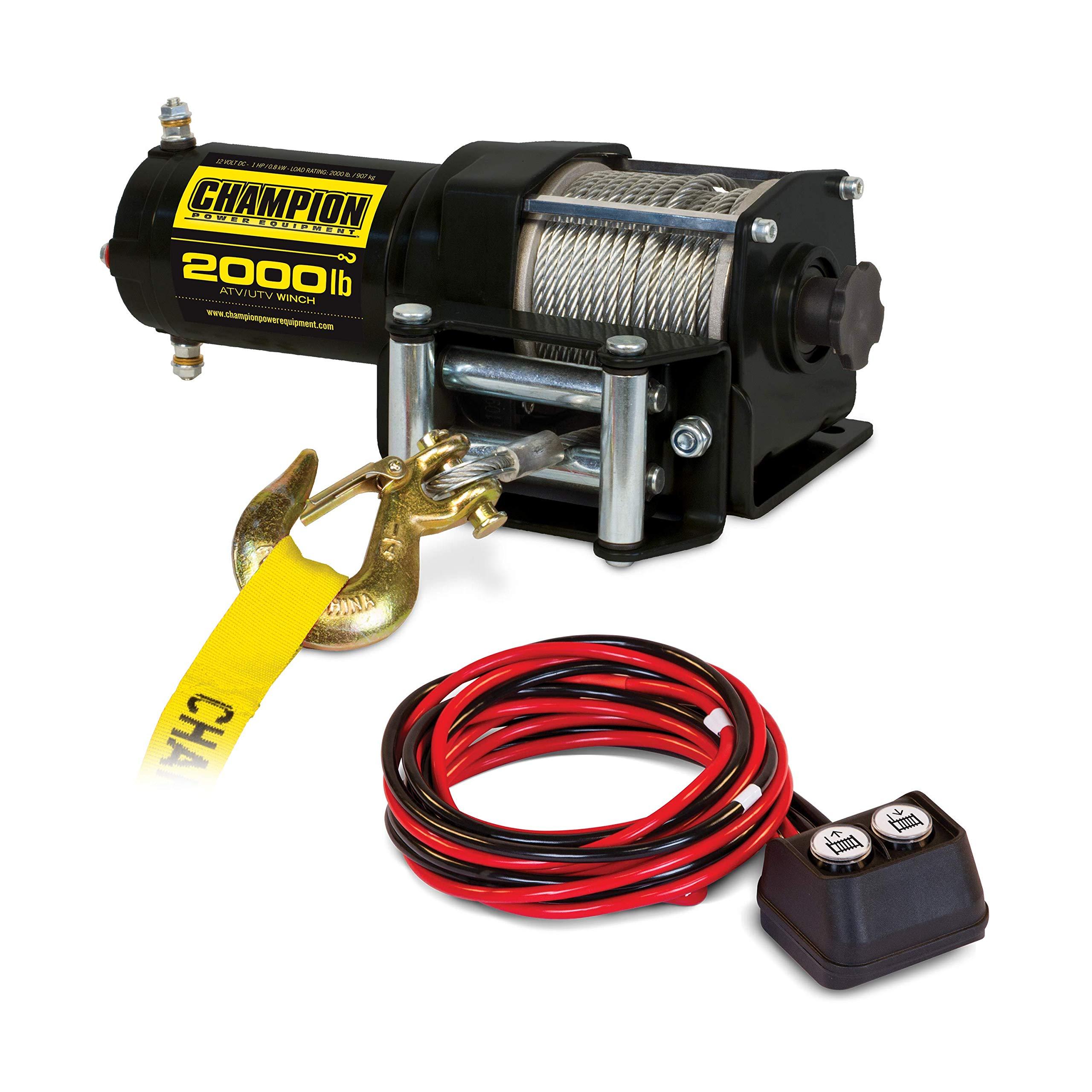Champion 2000-lb. ATV/UTV Winch Kit by Champion Power Equipment