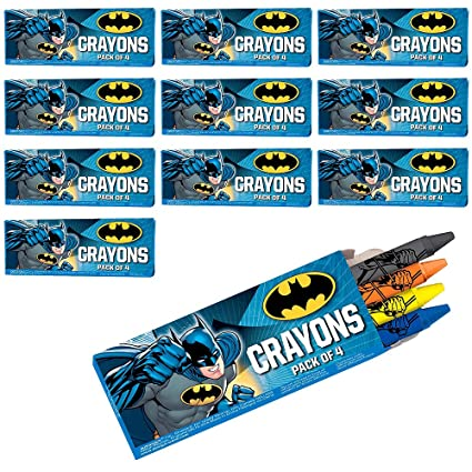Amazon.com: HollyDel Batman Crayon Boxes 48 ct; novedad ...