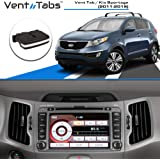 Easy Clip on American Design No Screws or Tools Required 2006-2013 30-SECOND INSTALLATION Venttabs for BMW X5 // X6 Rear Vents E70 Air Conditioning Vent Replacement Tab Vent outlet Tab Clip