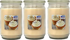 Mainstays 20oz Vanilla Scented Candles, 3-Pack