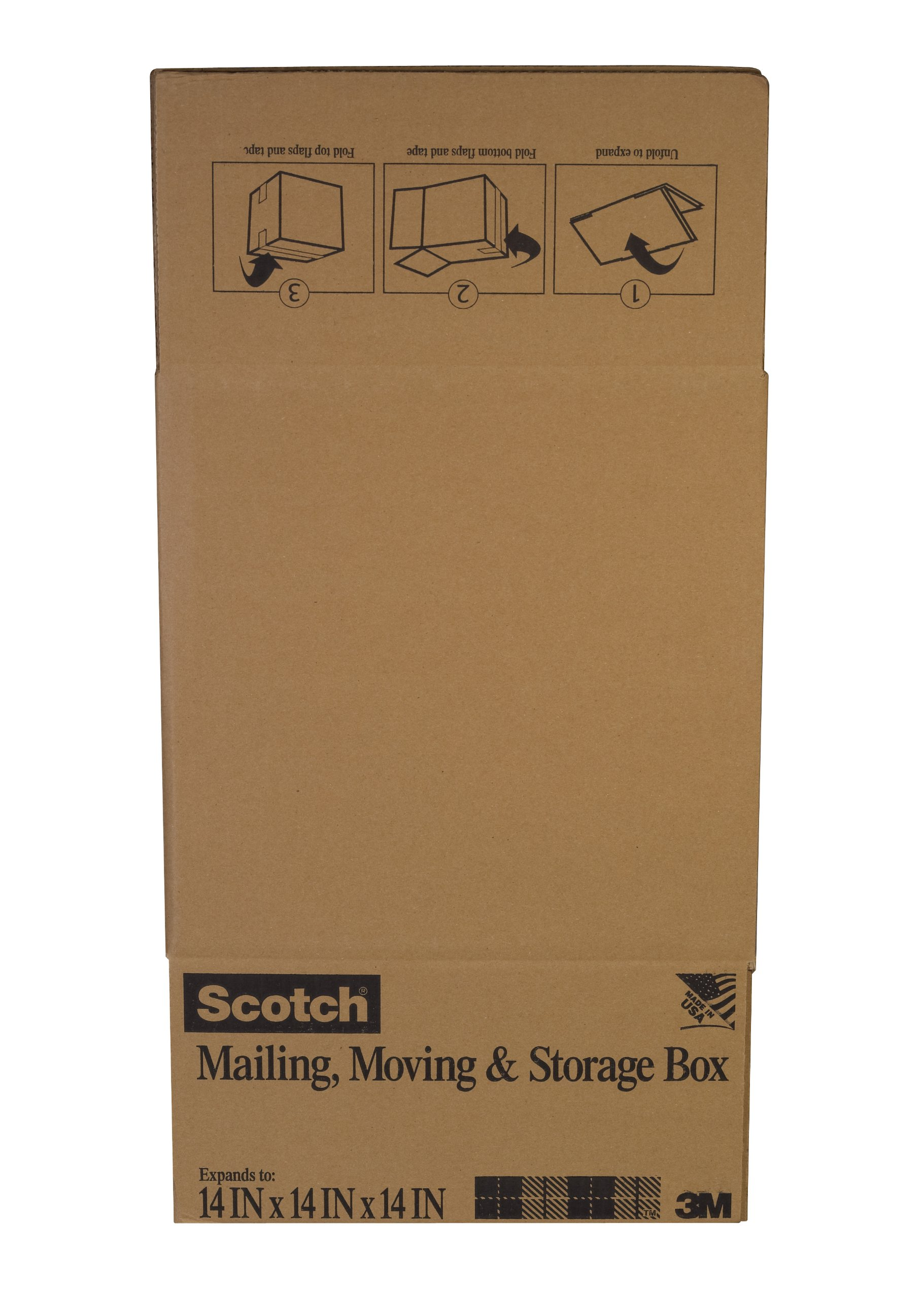 Scotch Folded Box, 12-Inches x 12-Inches x 12-Inches, 6-Pack