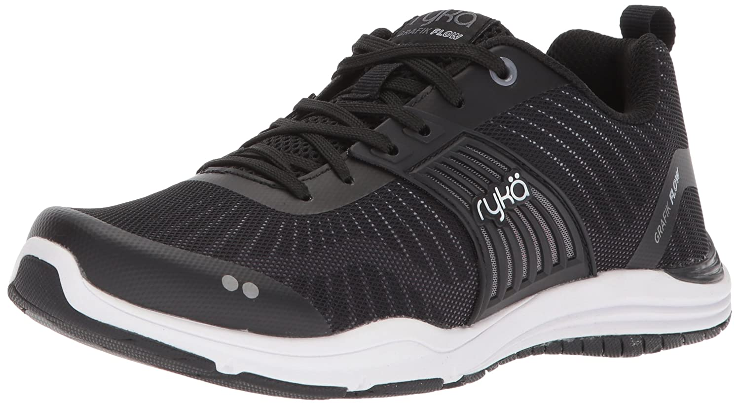 Ryka Women's Grafik Flow Cross Trainer B0757P5WRQ 11 B(M) US|Black/Hyper Pink/Meteorite
